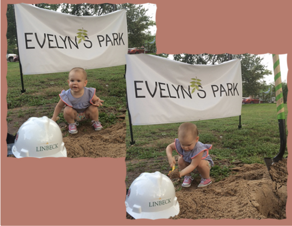 Issa ground breaking at Evelyn's Park