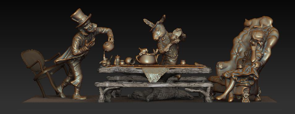 3D model by Houston, Texas sculptor Bridgette Mongeon