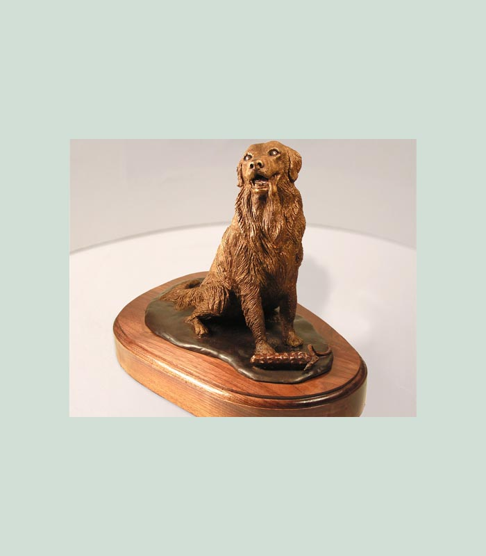Bronze statue of dog created in memory