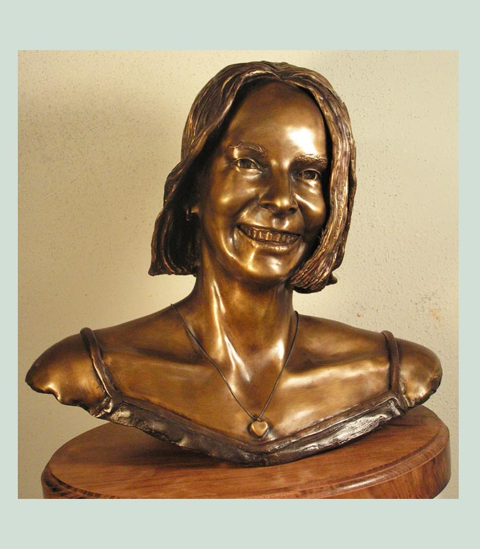 Texas artist creates portrait busts.