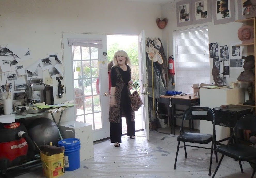 Sculpture process by Texas artist Bridgette Mongeon