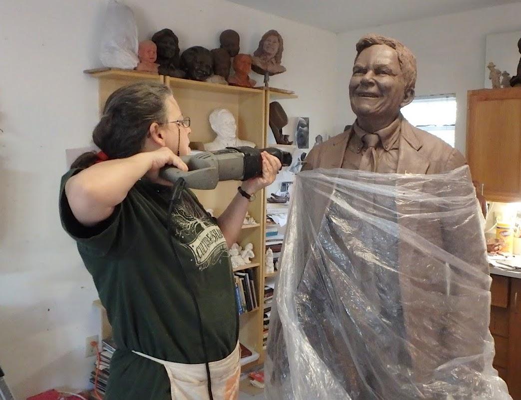 Texas artist cuts apart the sculpture of John Turner.