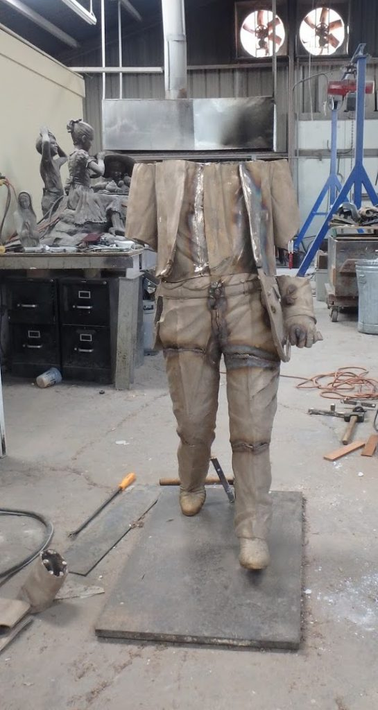 step by step process of creating a bronze statue
