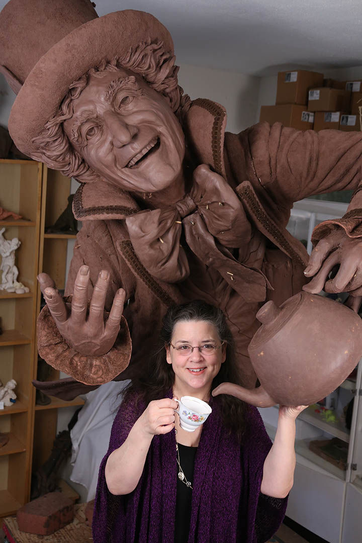 Houston, Texas artist Bridgette Mongeon with Mad Hatter