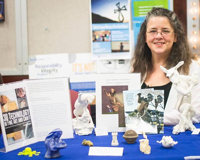 Bridgette speaks at Penn State University about 3D technology in Fine art