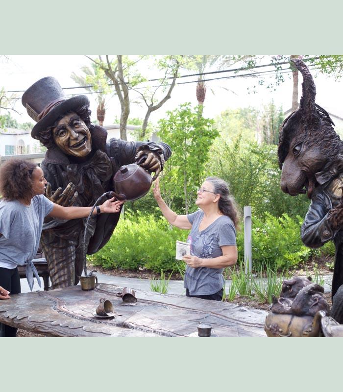 Mad Hatter and texas artist Bridgette Mongeon