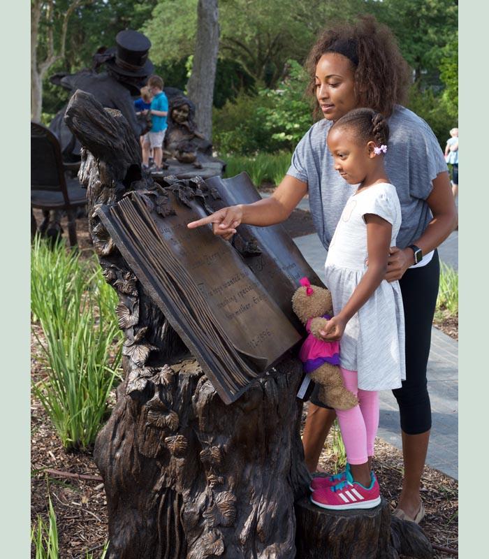 Bronze sculpture in Texas by artist Bridgette Mongeon
