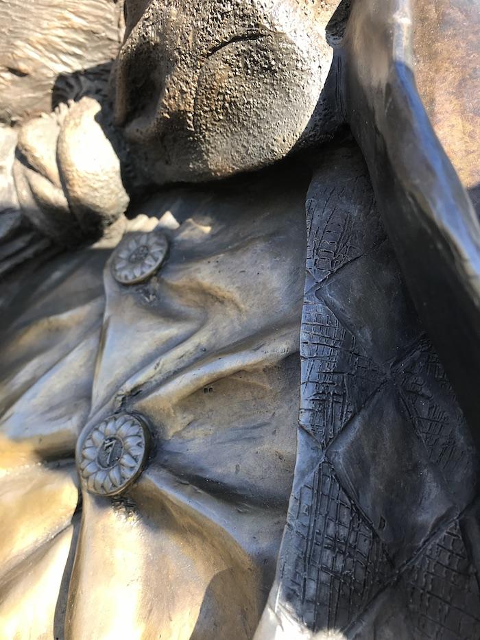 bronze buttons by Texas, Sculptor Bridgette Mongeon