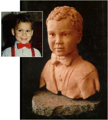 Bridgette Mongeon creates portrait sculpture of children