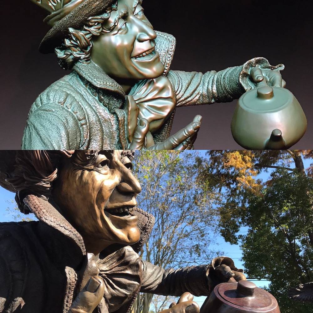 The Mad Hatter 3D scan, 3D model and bronze by Houston, Texas sculptor Bridgette Mongeon