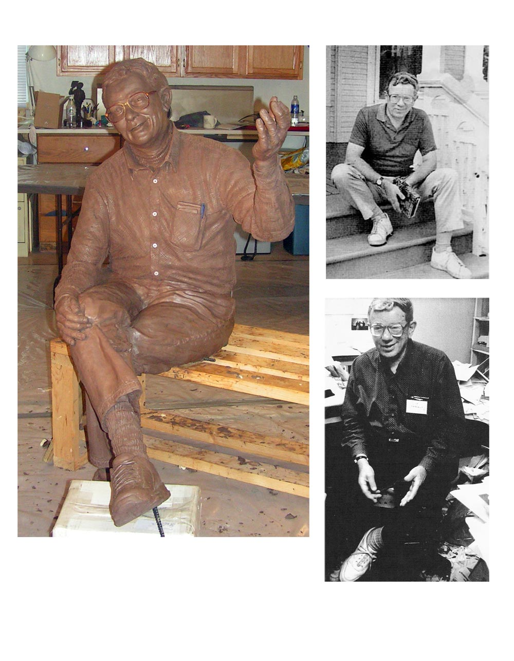 Clay sculpture of Richard Hathaway