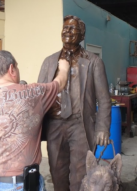 Making a bronze statue. Step by step.
