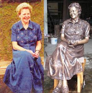 Sculptor Bridgette Mongeon specializes in sculpting deceased loved ones.
