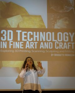 Bridgette mongeon speaks on 3D technology at Penn State University on STEAM