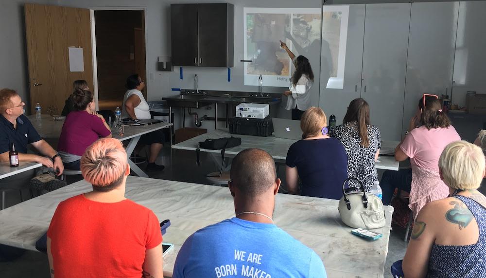Houston artist Bridgette Mongeon and workshops
