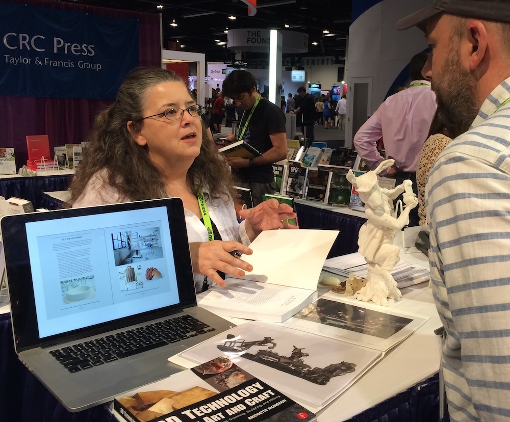 Writer Bridgette Mongeon talks about 3D printing at SIGGRAPH