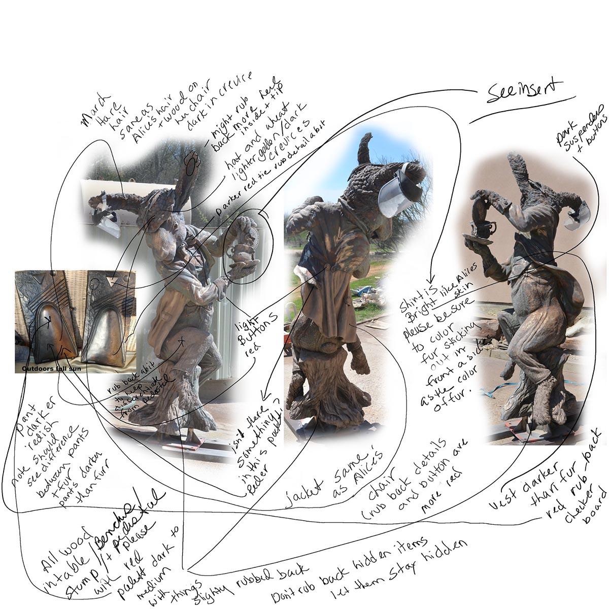Bridgette Mongeon sculpts the March Hare