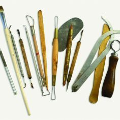 artist Bridgette Mongeon sculpting tools